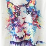 Novelty Women Cat Print T Shirt