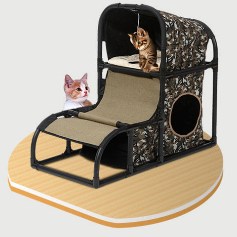 Cat Tree Play House Condo Scratcher