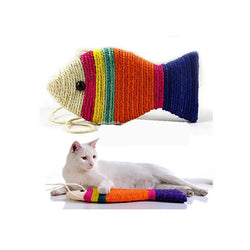 Cat Scratch Board Toy Fish Shape