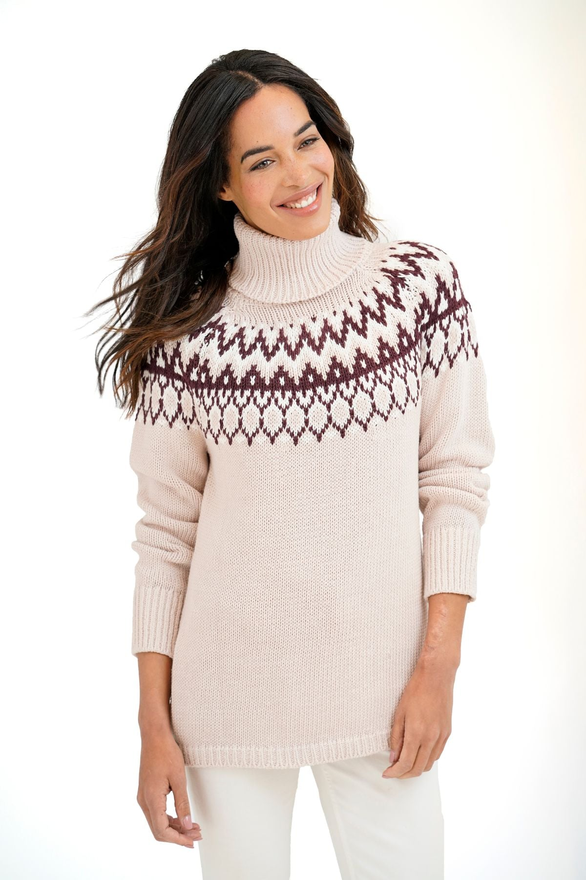 Jennifer Fairisle Turtleneck
