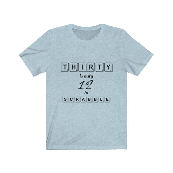 Blue 30th Birthday Scrabble T-shirt