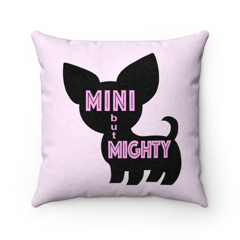 Chi Mini But Mighty Faux Suede Square Pillow (Pink)