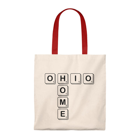 Ohio Home (Scrabble) Tote Bag - Vintage