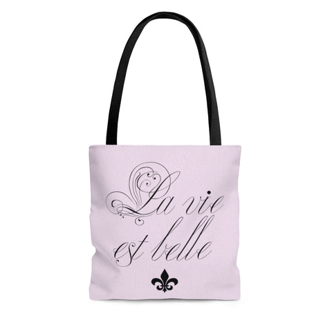 inspirational pink french tote