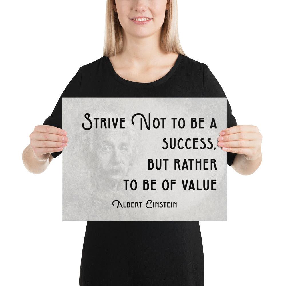Be Of Value Poster - Albert Einstein Quote - Inspirational Quote - Motivational Quote - Inspirational Wall Art - Motivational Poster