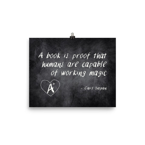 A Book is Proof Poster - Reading Poster - Quote about Reading - Poster About Reading - Quote About Book - Reading Wall Art Kids