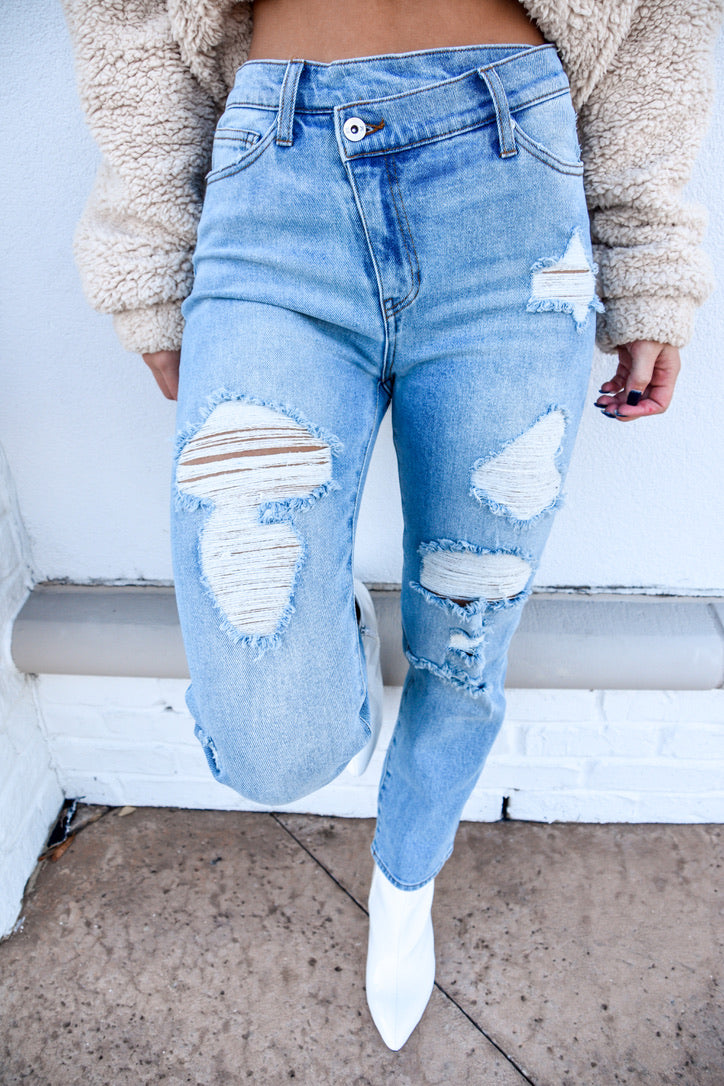 Livin' in Denim Jeans-Bottoms-U&I Boutique