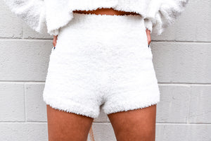 Snow Baby Fuzzy Shorts-Set-U&I Boutique