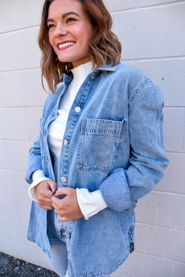 Denim is a Way of Life Top-Top-U&I Boutique