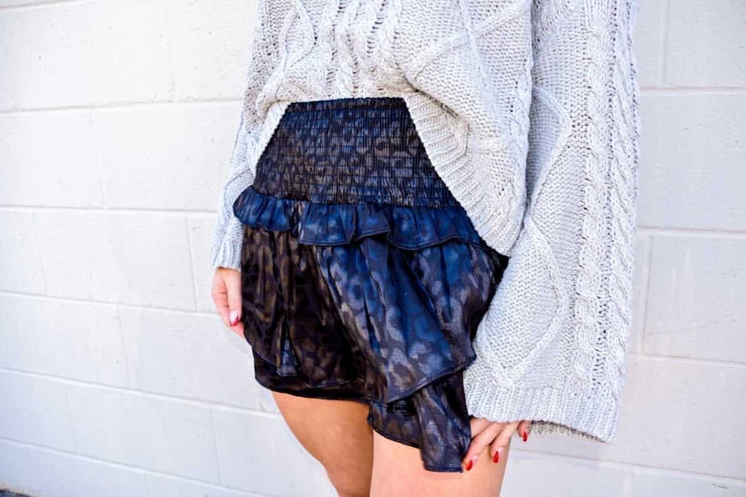 Caught In The Wild Skirt-Bottoms-U&I Boutique