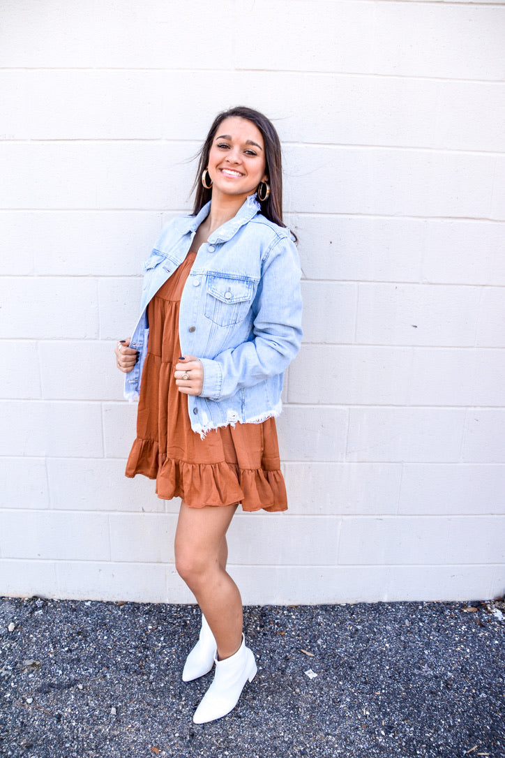 Catch Me On The Coast Denim Jacket-Jackets-U&I Boutique