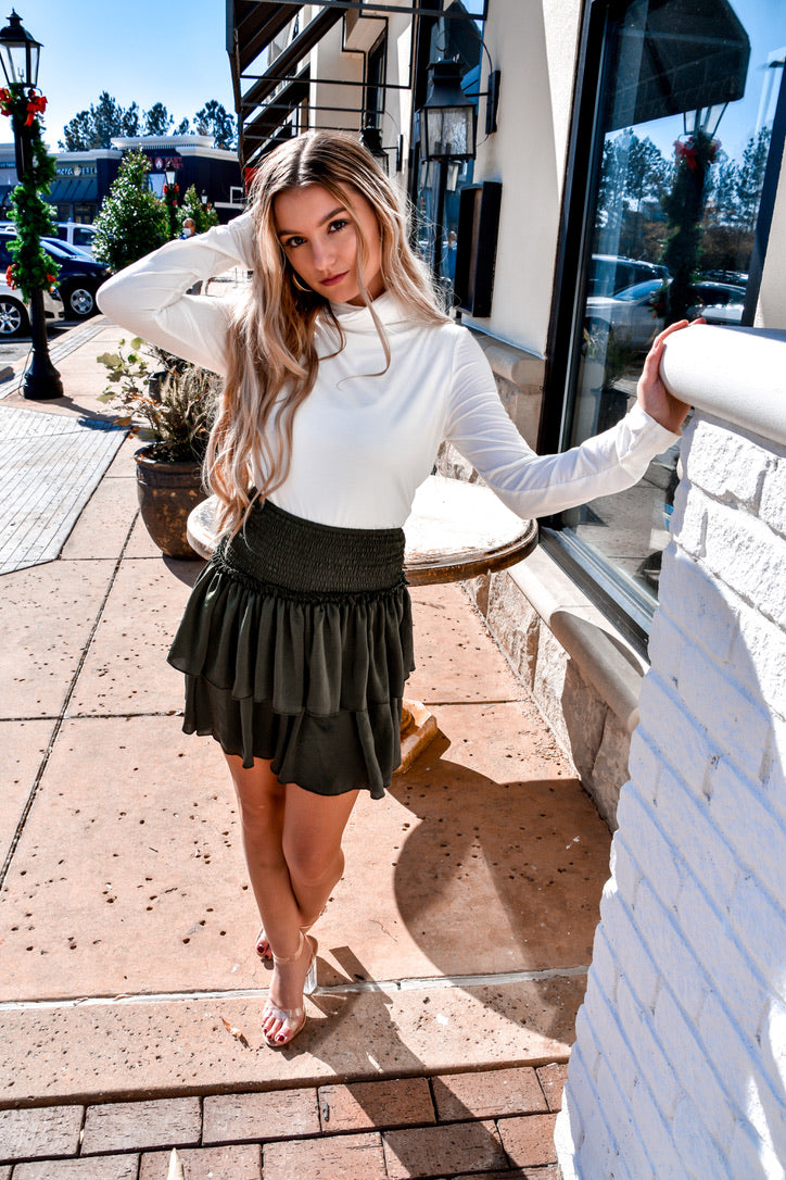 Best Version Of You Skirt-Bottoms-U&I Boutique