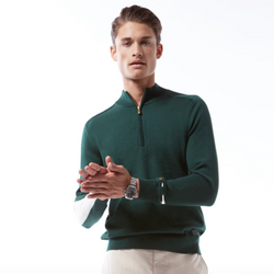 Merino Mock Neck 1/4 Zip Sweater