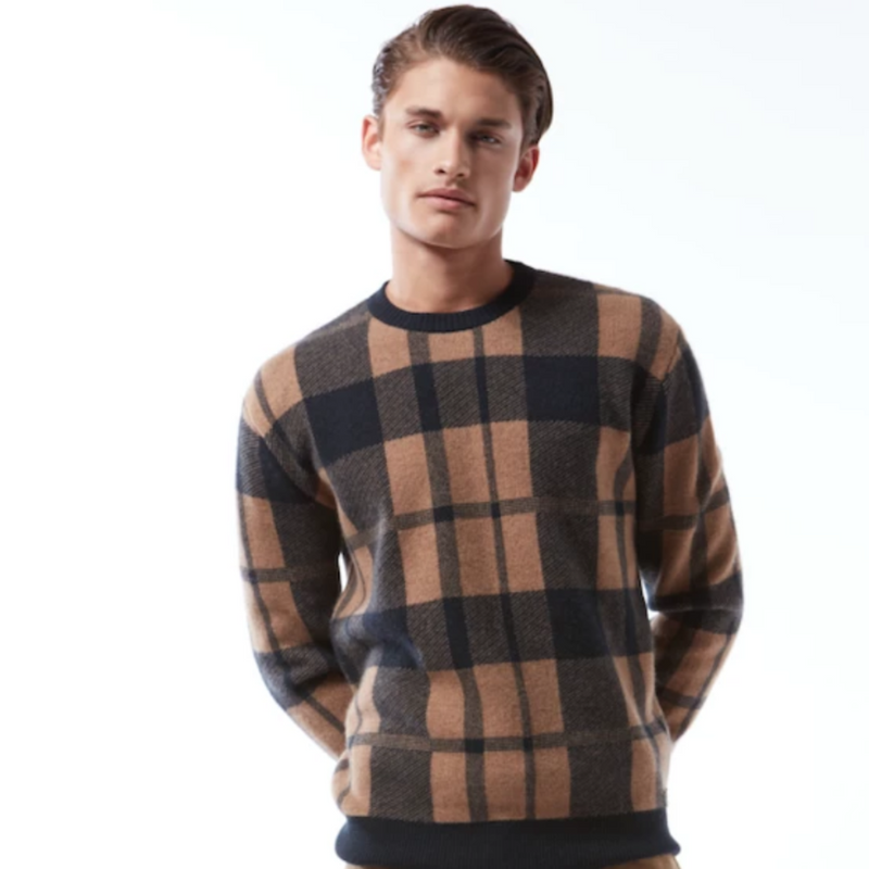 Cashmere Plaid Pullover