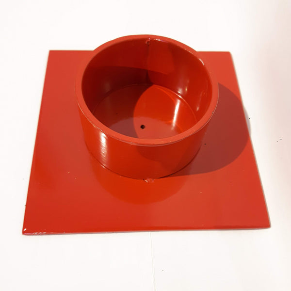 "Candlestick ""The Square"" red - Kunstindustrien"