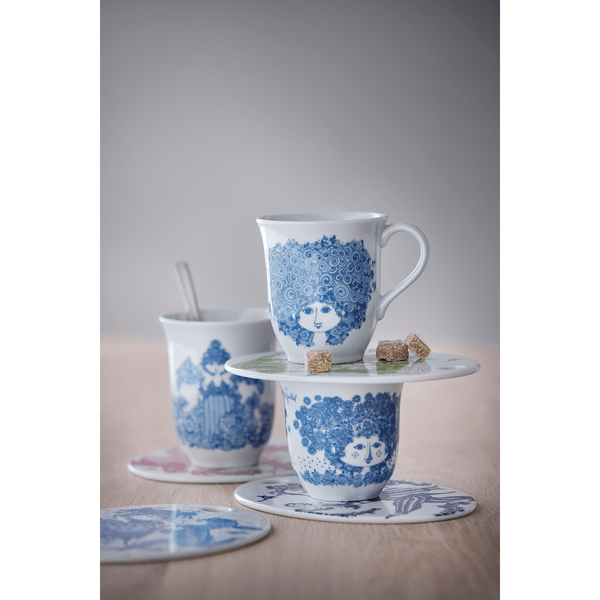 Rosalinda Mug - Dusty Blue & White