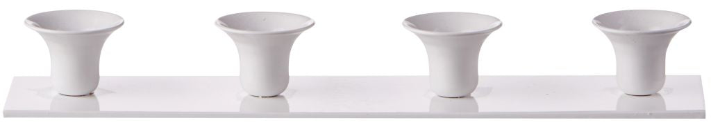 Candlestick for 4 13mm small church candles - white