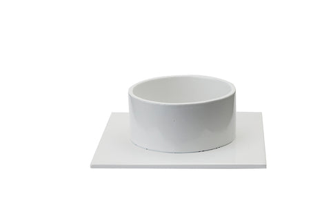 "Candlestick ""The Square"" white - Kunstindustrien"