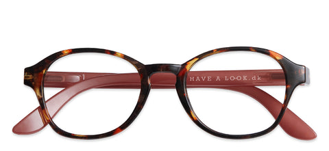 Reading glasses - Circle tortoise/rose (+1 & +1.5)
