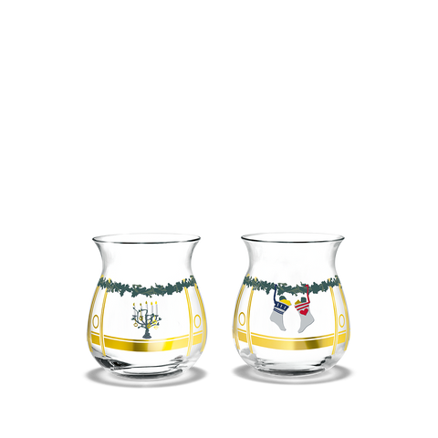 2020 Christmas Tea Light Holders - Set of 2
