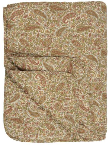 Quilt Paisley w/ Green, Mustard, Rust Colours