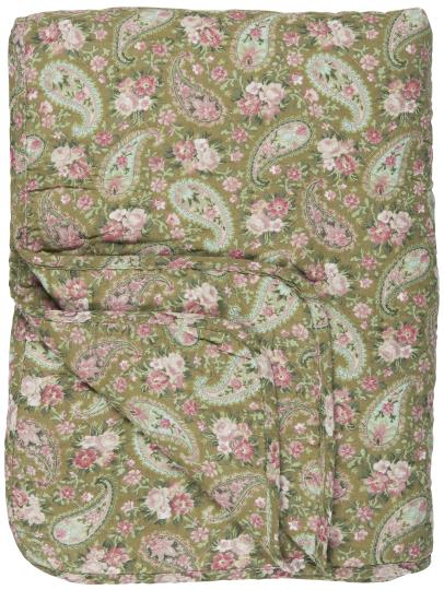 Quilt Green w/Faded Rose Paisley