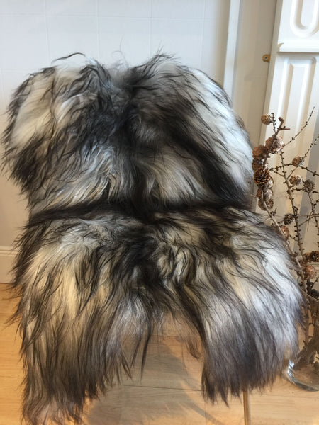 Icelandic Sheepskin - Long Haired - Natural Grey