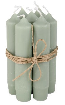 Short Dinner Candle - Dusty Green
