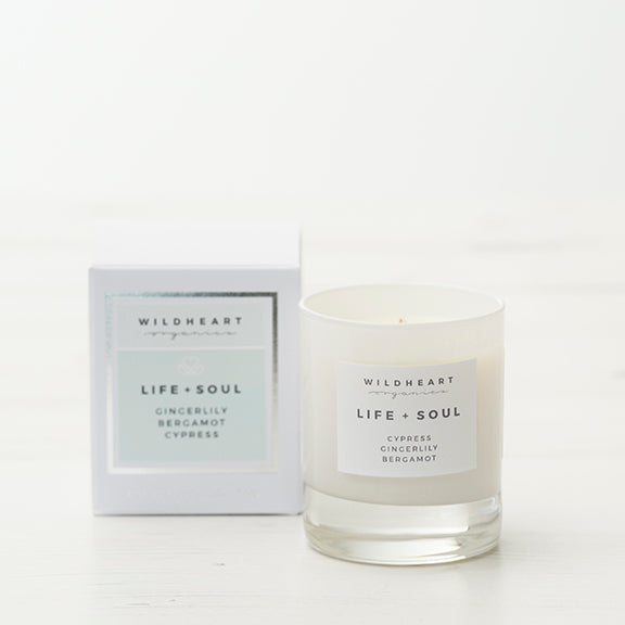 Aromatherapy candle from Wildheart Organics