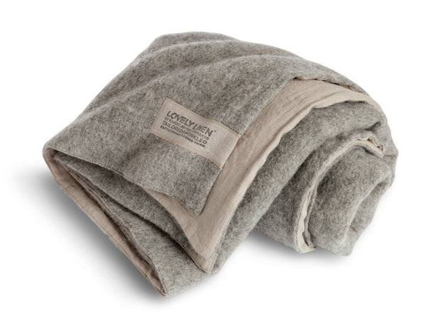 Lovely Linen double throw - grey