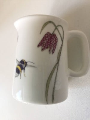 Bee and Spring Flowers Mini Jug