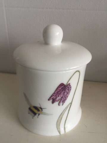 Bee and Spring Flower Sugar/Jam pot
