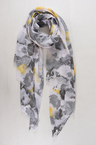 Scarf - Grey w Watercolour Design