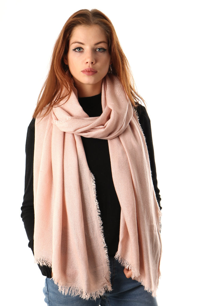 Scarf - Light Pink w. Silver
