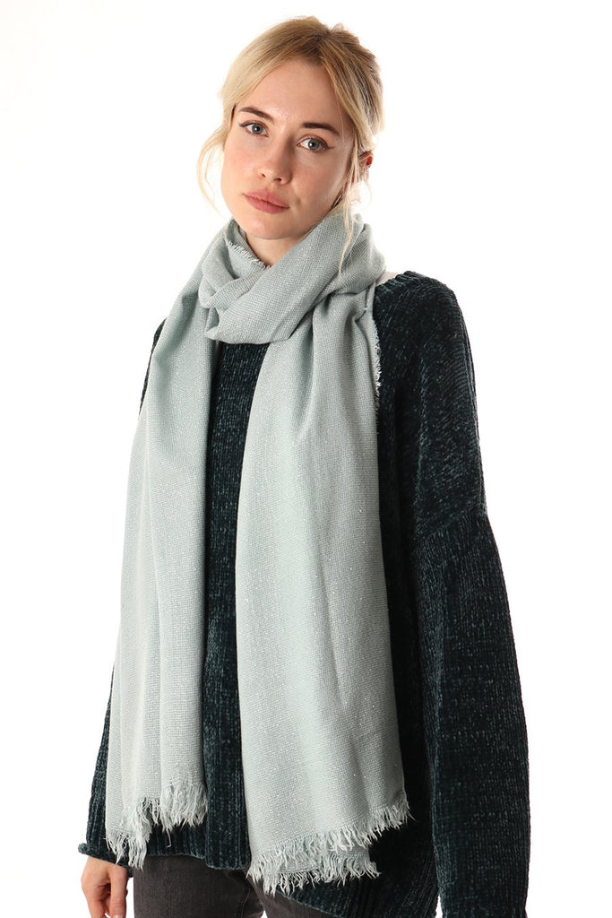 Scarf - Light Blue w. Silver