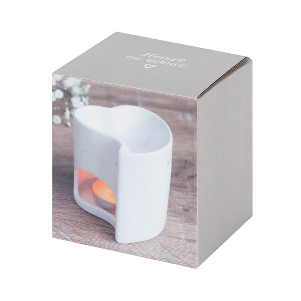 Wax/Oil Burner - White Heart