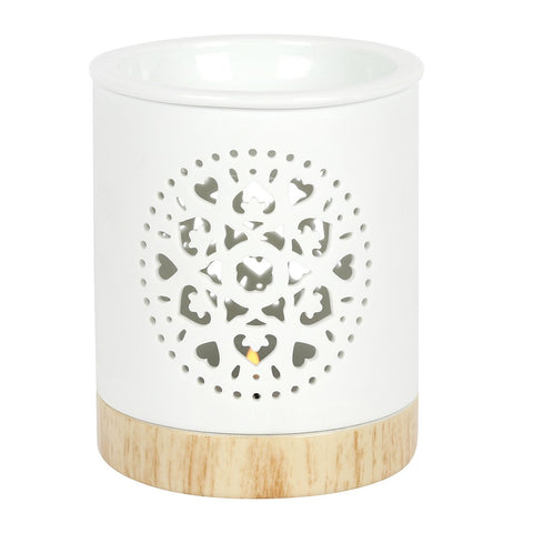 Wax/Oil Burner - White Mandala