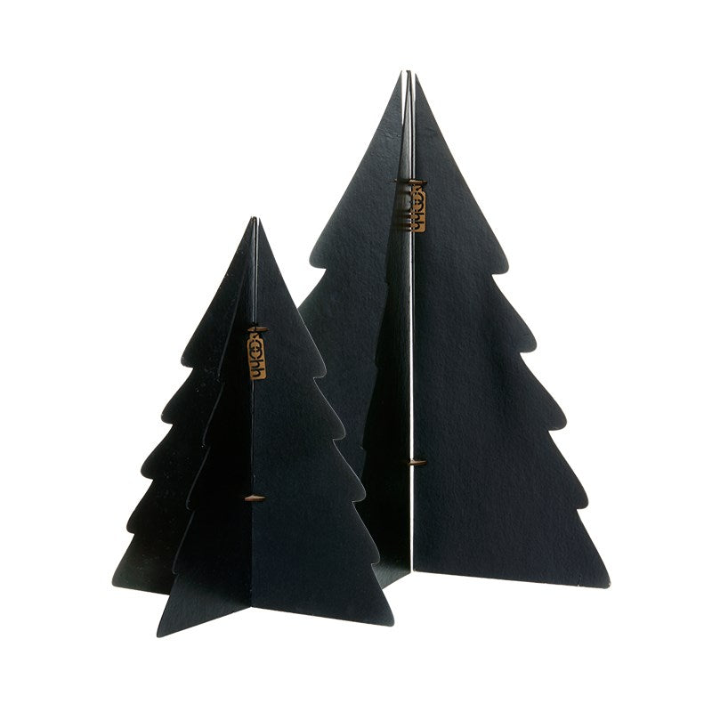 Set of 2 Large Paper Trees - Black