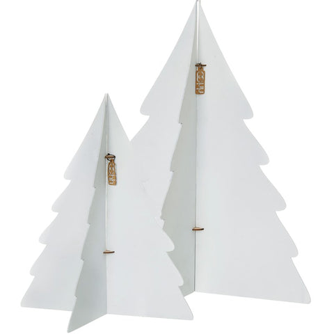 Set of 2 Large Paper Trees - White