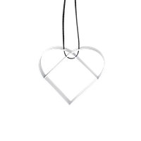 Figure Christmas Heart Ornament - White