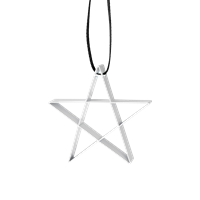 Figure Christmas Star Ornament - White