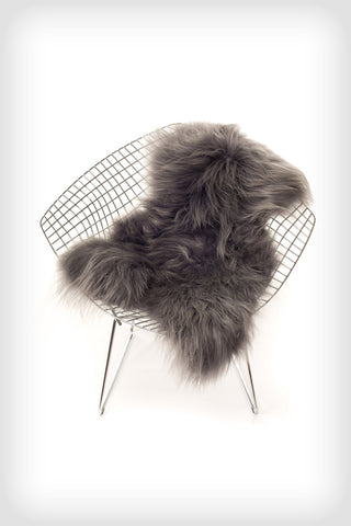 Icelandic Sheepskin - Long Haired - Silver