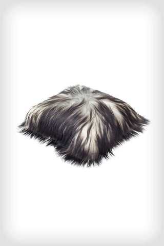 Long Haired Icelandic Sheepskin Cushion - Natural Grey