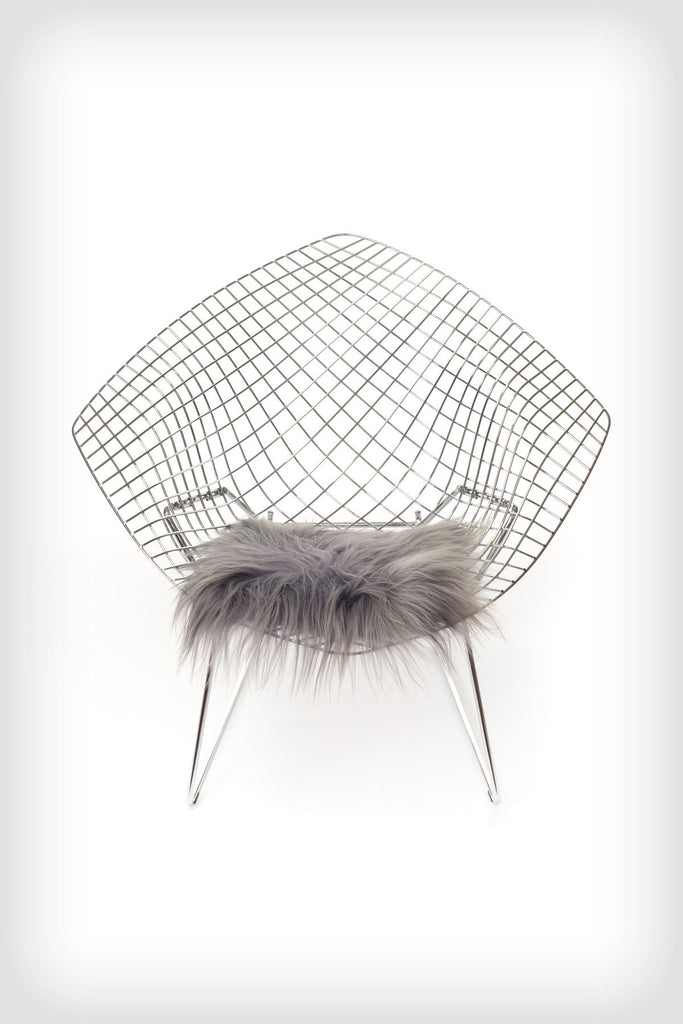 Icelandic Sheepskin Chair Pad - Long haired Silver