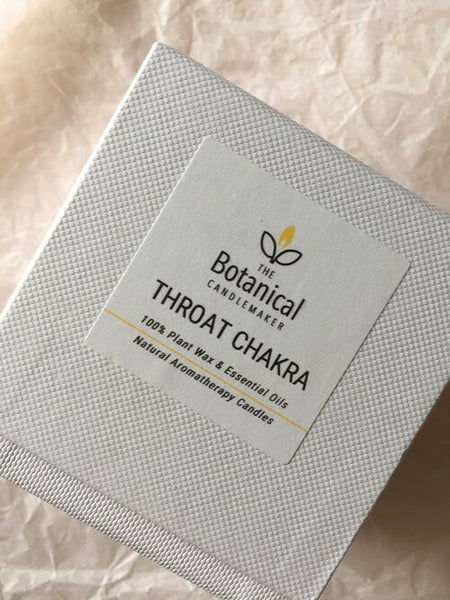 Aromatherapy candle - Throat Chakra, small