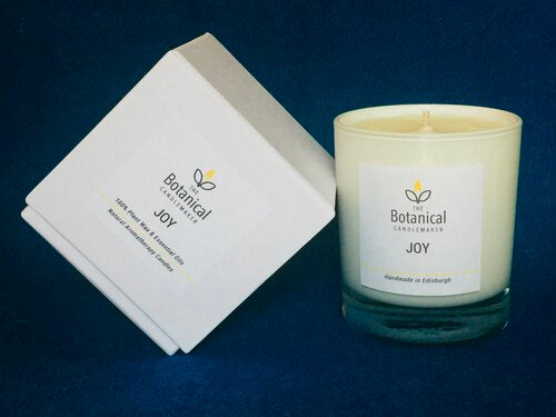 Joy aromatherpy candle from the Bothanical Candlemaker