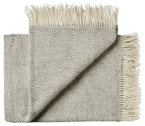 Throw blanket grey - diamond