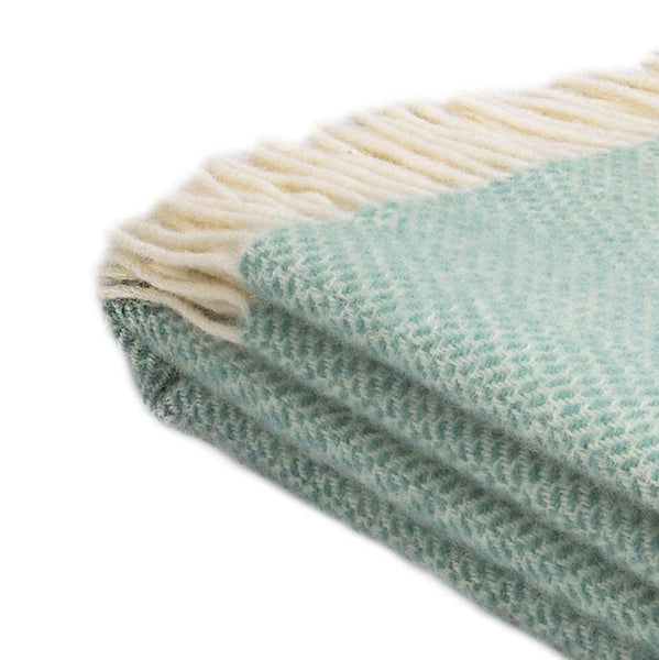 Beehive Wool Throw - Ocean