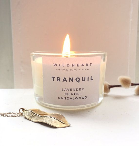 Organic Aromatherapy Travel Candle - Tranquil