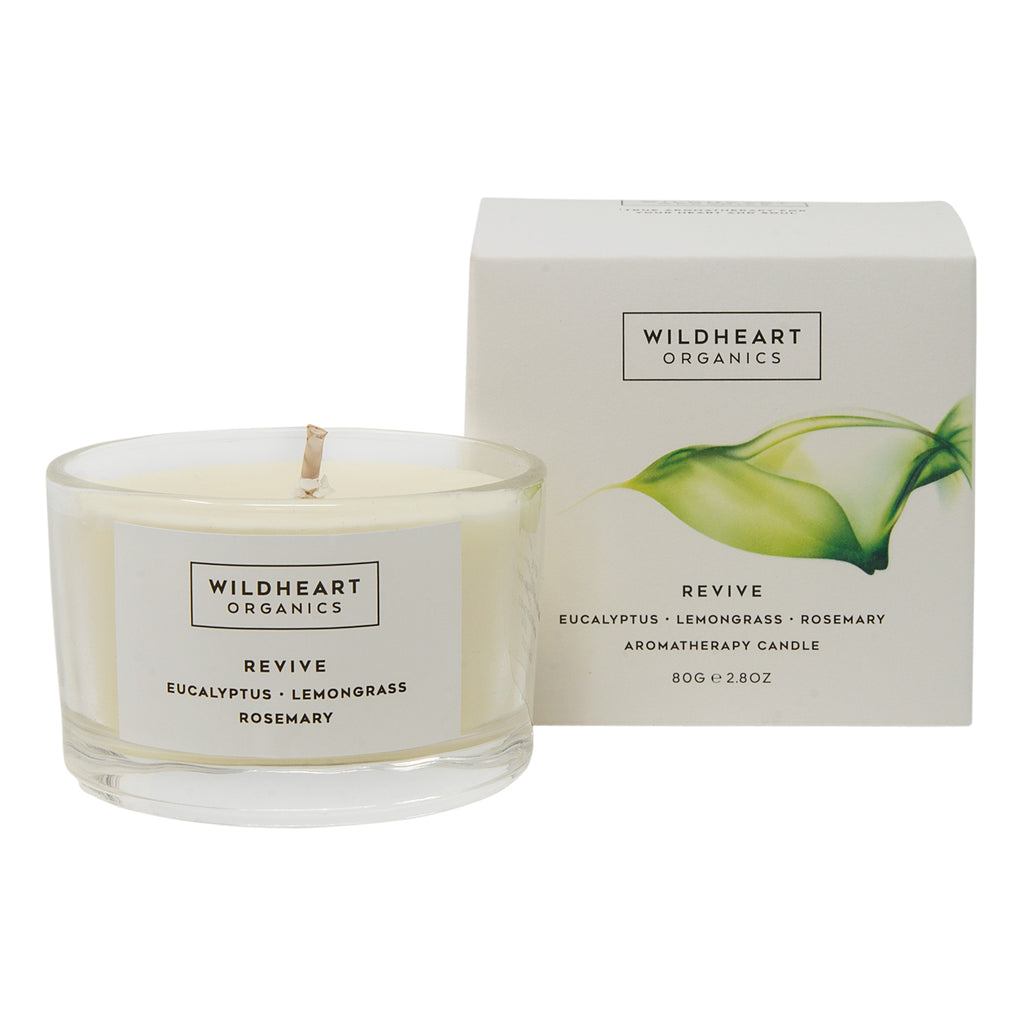 Wildheart Organics Revive spa candle
